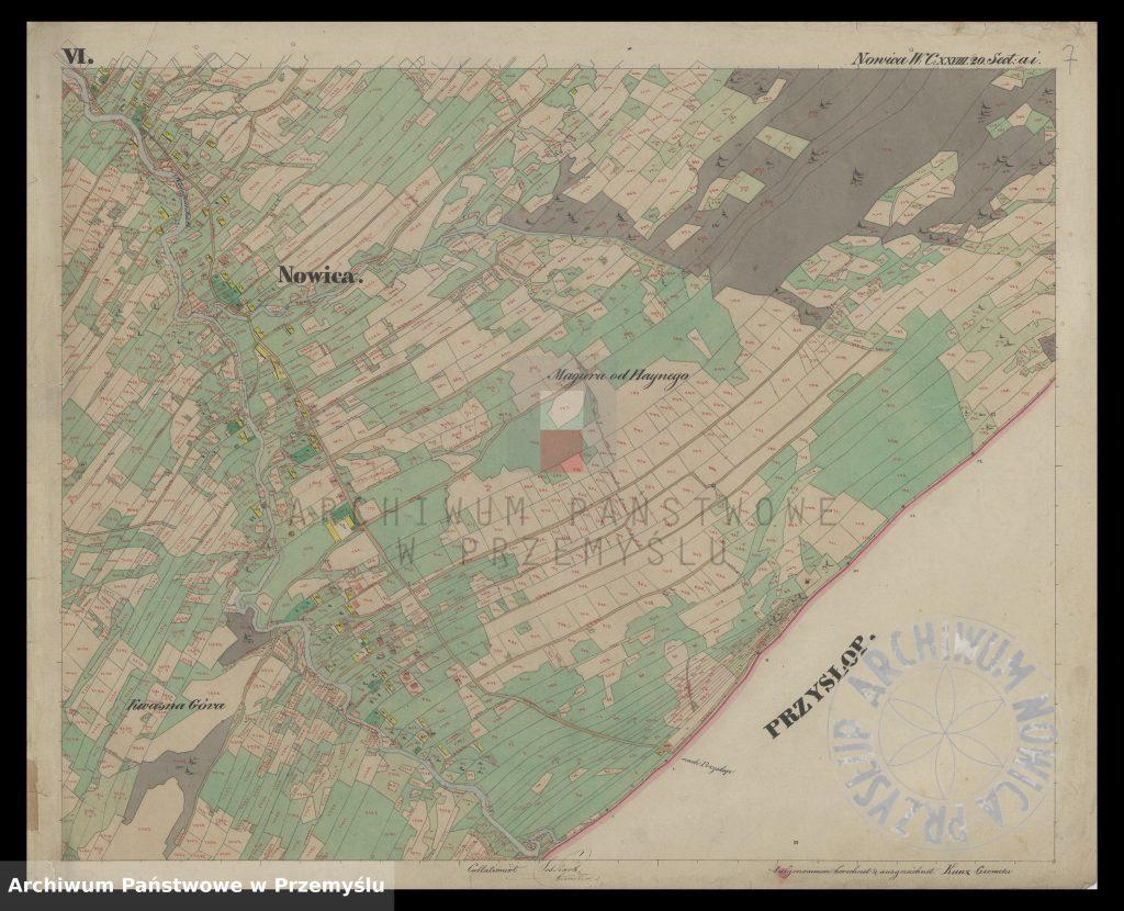 mapa-wsi-nowica-w-obwodzie-jasielskim-j-1850-7